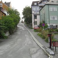 Trondheim város kerékpár-liftje
