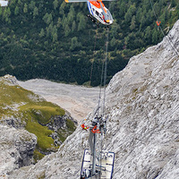 Baleset a Zugspitze-felvonón
