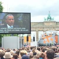 Obama lelkiismeretről, háborúról, menekültekről beszélt Berlinben a Kirchentagon