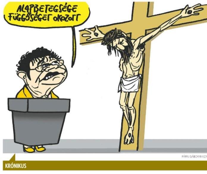 Botrány? – Jézus Krisztus és Müller Cecília egy rajzon