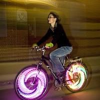Egyedi küllővilágítás kerékpárra
