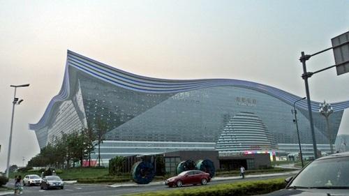 Az egyik legújabb épület - Csengtu üzleti központja