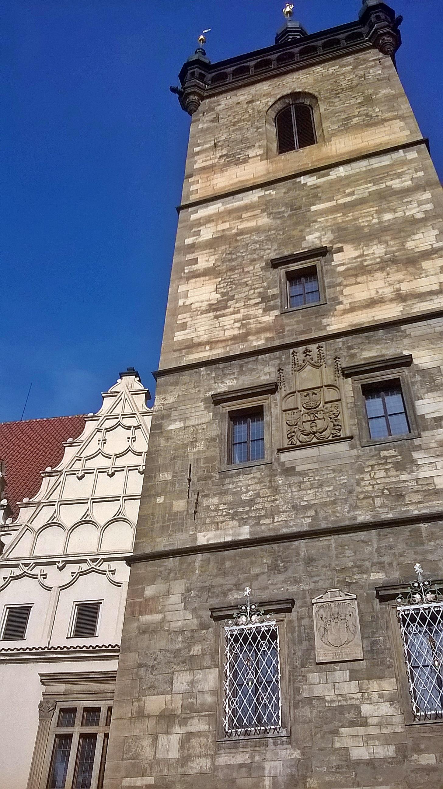 Az Újvárosi városháza reneszánsz épülete...