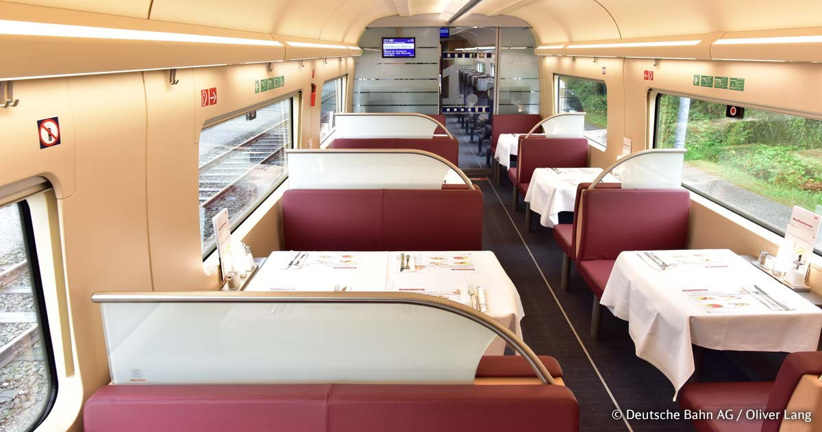 A DB új ICE4-esein is van Bordrestaurant (Kép: inside.bahn.de)