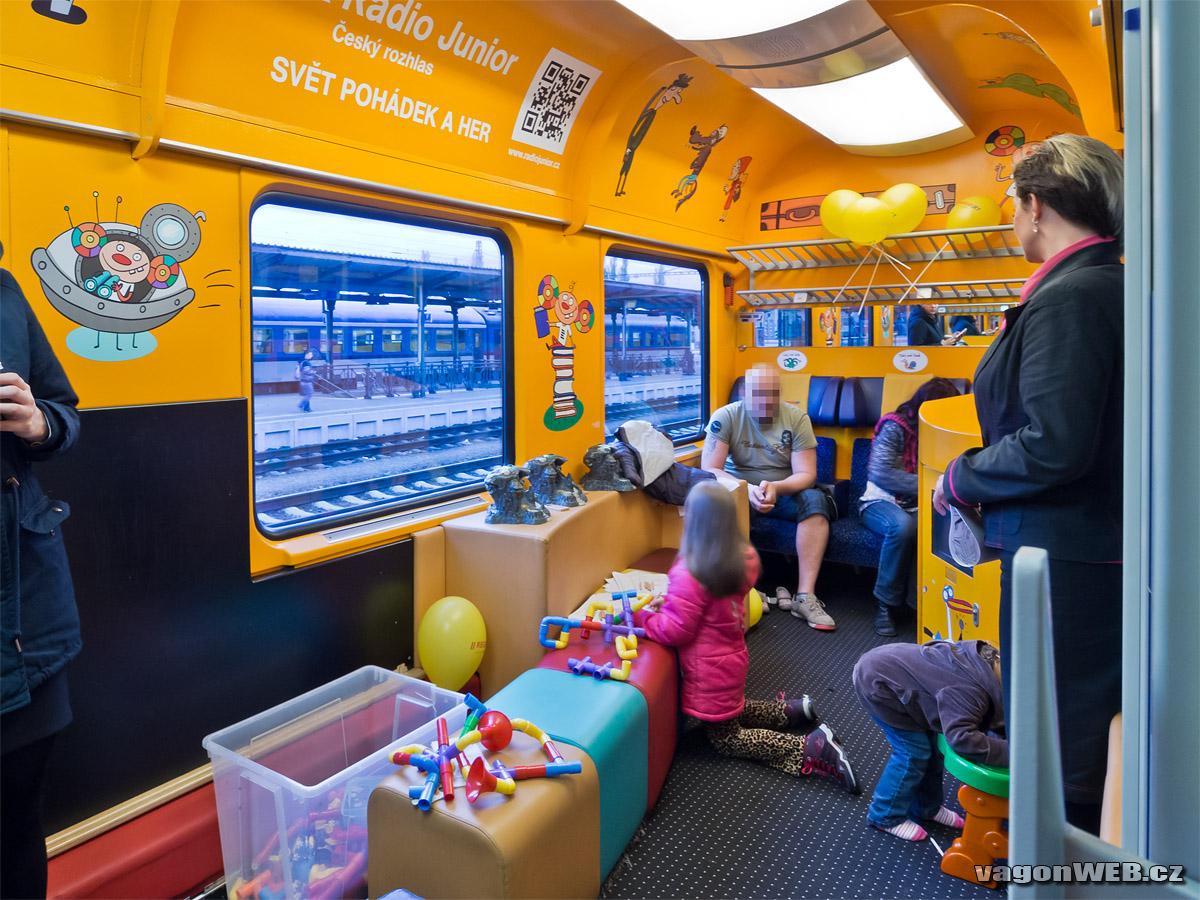 A cseh Regiojetnél is külön játszószoba található a vonatokon (Kép: vagonweb.cz)