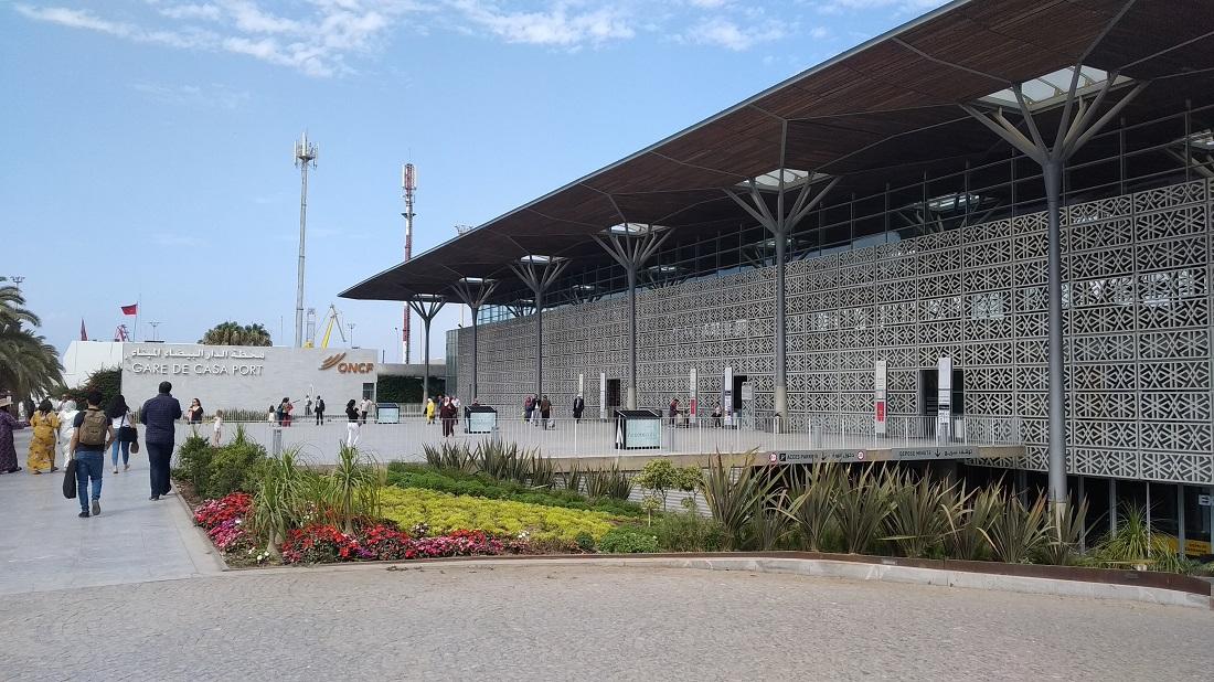 Casablanca kisebb, csak elővárosi vonatokat fogadó fejállomása a Casa Port