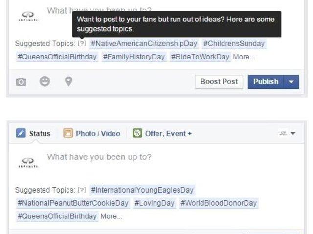 Nincs ötleted, miről posztolj? Segít a Facebook!