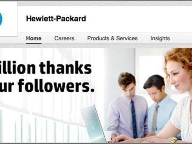 Miért regisztrált a HP a LinkedIn-re?