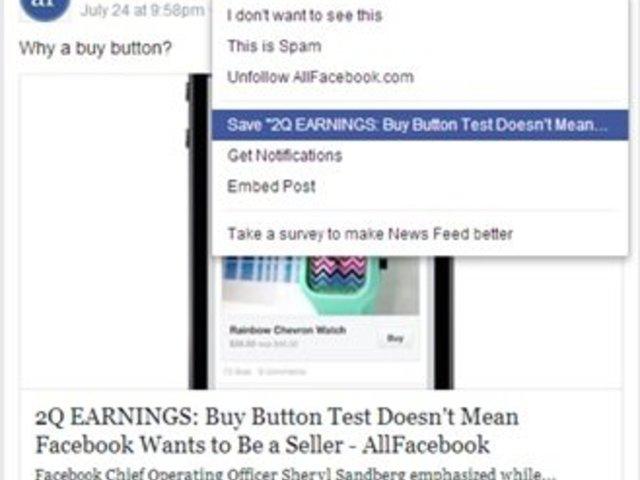 Mentés másként a Facebook-on...