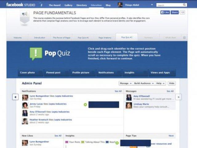 Tanulj a Facebook-ról a Facebook Studio-tól :)