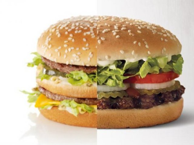 Facebook-on és sajtón keresztül üzenget egymásnak a Meki és a BurgerKing!