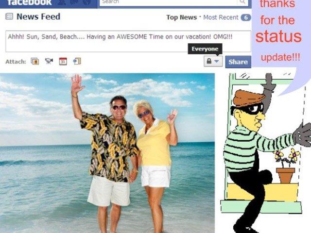 Nyaralás a Facebook-on...