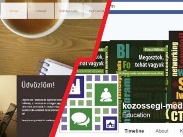 Facebook oldal helyettesíti a honlapot?