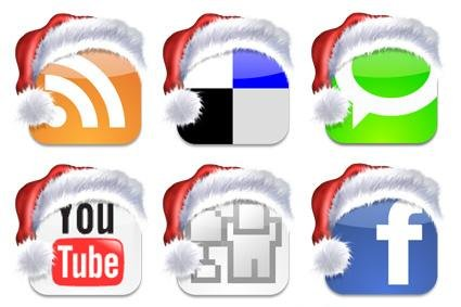 christmas-social-bookmark-icons