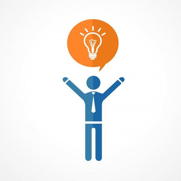 Photo 1 person lightbulb