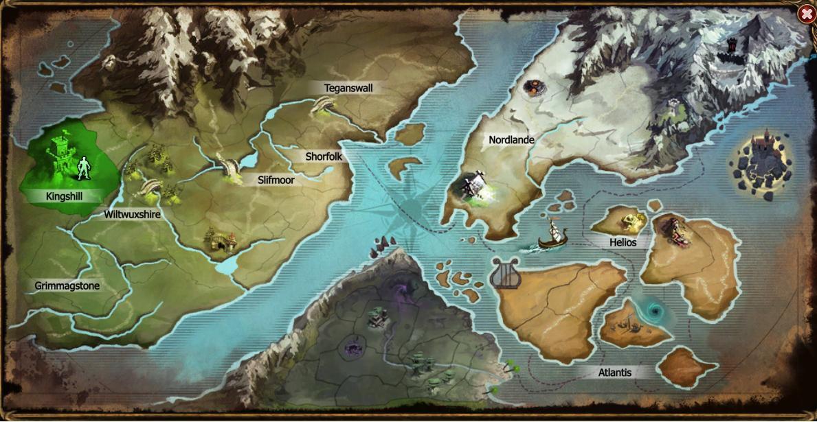 Duria világtérképe - Drakensang Online