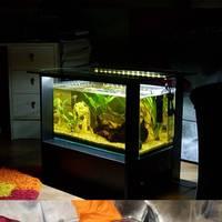 54 literes akvárium dohányzóasztal ledvilágítással