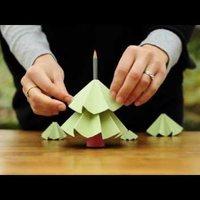 Egyszerű karácsonyfa papírból