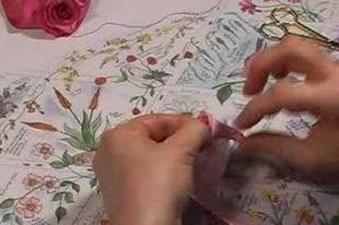 Rózsa készítése szalagból