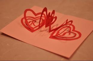 Valentin napi üdvözlő kártya