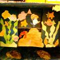 Akvárium és hóember kartonból
