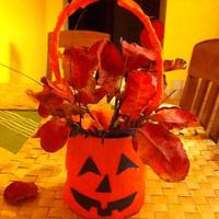 Őszi dekoráció konzerv dobozból