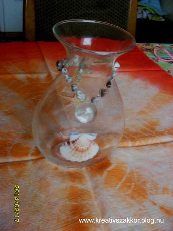 Kagyló dekoráció - Váza 2.JPG