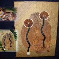 Termés-kép gyertyával
