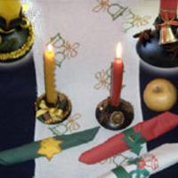 Karácsonyi gyertyatartó