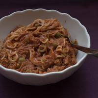 Paradicsomos tonhal spaghetti