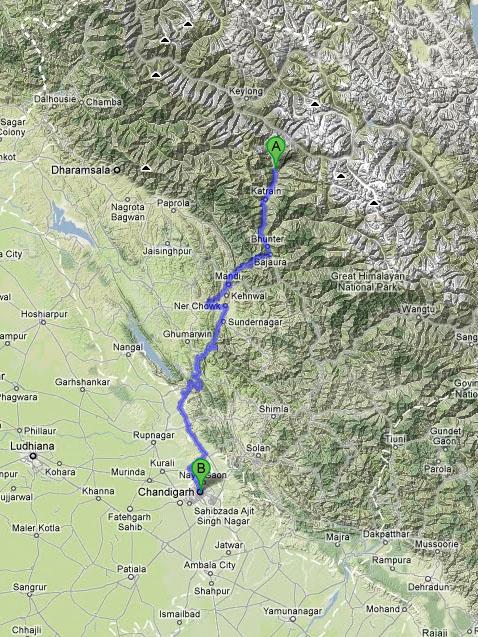 Az út Chandigarhba