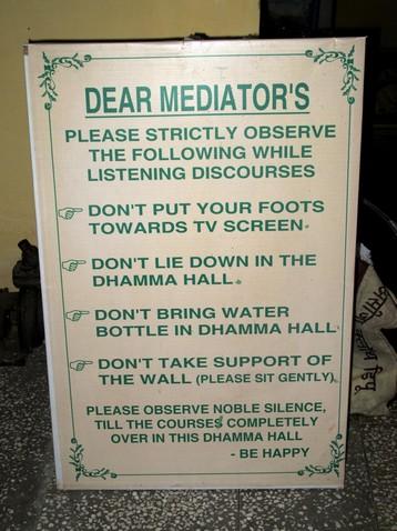 Dhamma hall szabályok