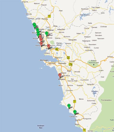 Goa térkép
