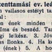 818. Az evangélikusok vallásos estélye (1915.)