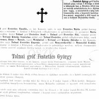 451. Főúri gyászjelentések a 19. századból