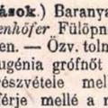 558. Erdődy Eugénia temetése