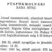 915. A községi termelőszövetkezet 1981-ben