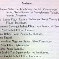 884. Az 1781. évi nemesi összeírás