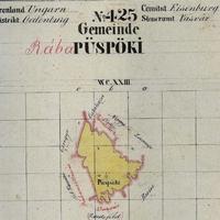 740. Püspöki kataszteri térképe 1857-ből
