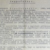 763. Evangélikus egyházlátogatás 1943.