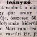 958. Bulvárhírek 1898-ból