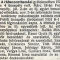 733. Az evangélikus gyülekezet ünnepélyei 1923-ban