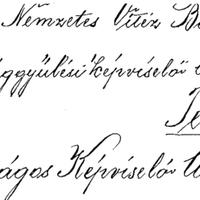 584. Püspöktamási levél az országgyűlési képviselőnek (1937)