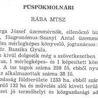 881. A községi termelőszövetkezet 1976-ban