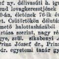 1018. Prinz József halála