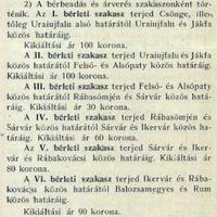 746. Halászati jog bérbe adása (1911.)