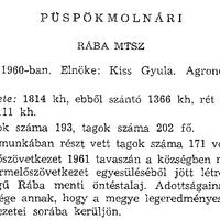 765. A községi termelőszövetkezet 1961-ben