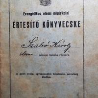 955. Evangélikus elemi iskolai értesítő az 1930-as évekből