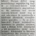 1023. A Körmend-Rábamolnári-Sárvár autóbuszjárat indulása