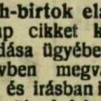 942. A rábamolnári uradalom eladása (1925.)